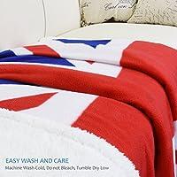 Catalonia Classy Mink - Manta de forro polar reversible para sofá cama, supersuave, 150 x 130 cm, microfibra, Bandera del Reino Unido., 150 x 130 cm: Amazon.es: Hogar