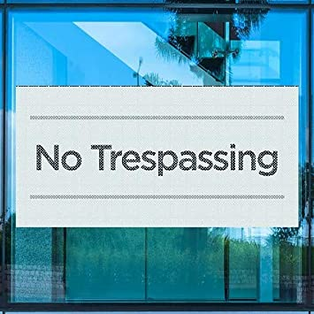 CGSignLab Basic Teal Perforated Window Decal No Trespassing 96x48