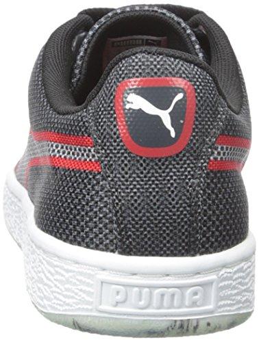 Puma cesta tejida clásica de moda zapatillas de deporte Black