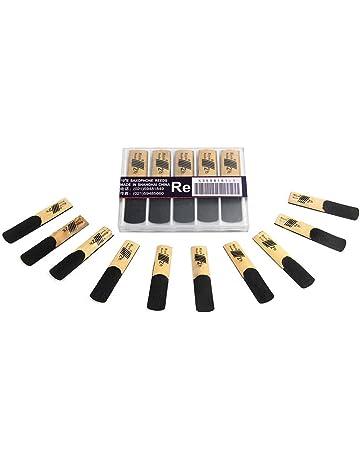 /Étui pour anches de saxophone /à 2 couches Bo/îte de rangement pour anches de saxophone en cuir noir pour 20 anches Accessoires dinstruments de musique
