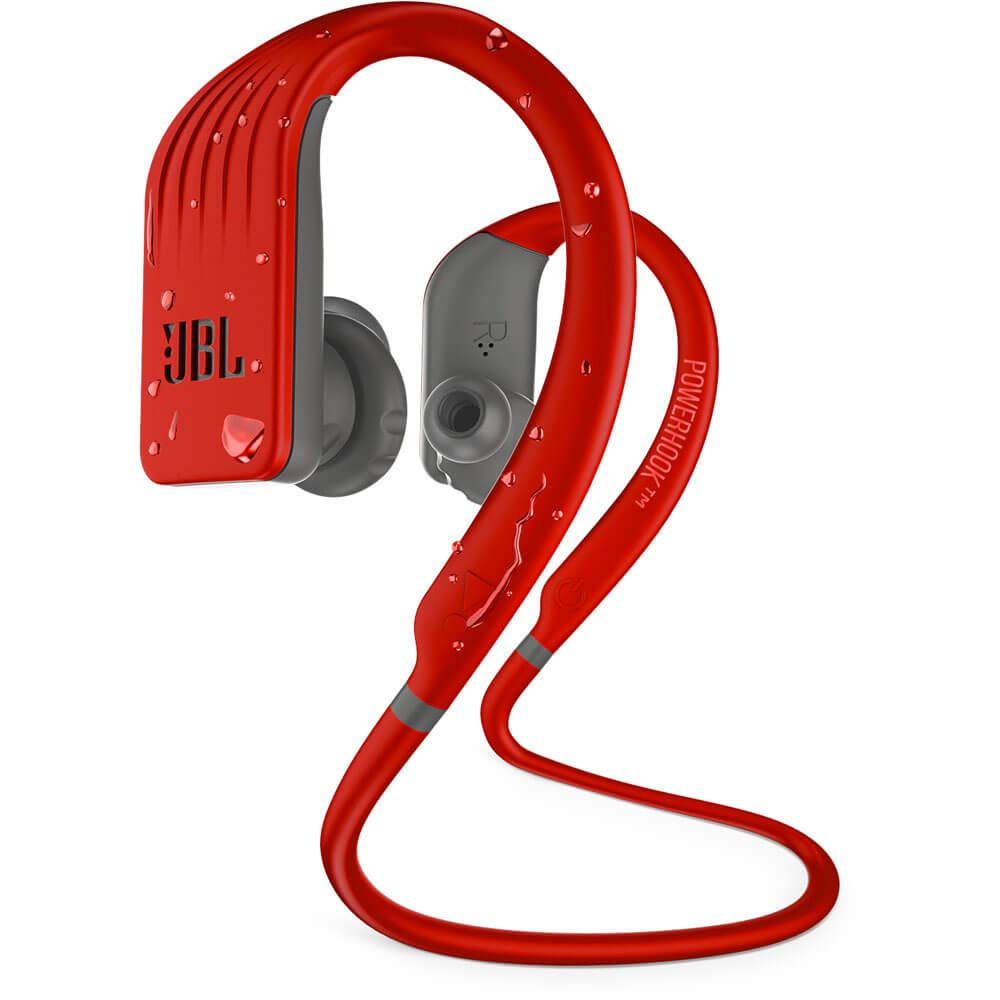 JBL Endurance Jump, Wireless in-Ear Sport Headphone with One-Button Mic Remote – Red