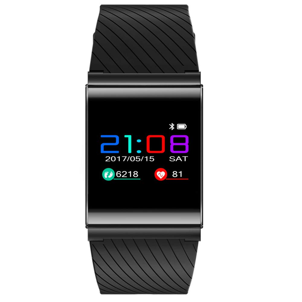 Smart Bluetooth Bracelet, Full Touch Screen Waterproof Social Fitness Mobile Positioning Bracelet, Multi-Function Blood Pressure Pedometer Android iOS Universal ZDDAB