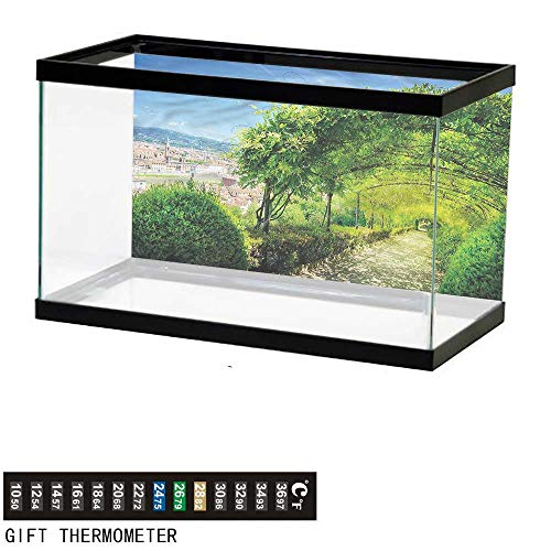 bybyhome Fish Tank Backdrop Italian,Boboli Gardens in Florence,Aquarium Background,30