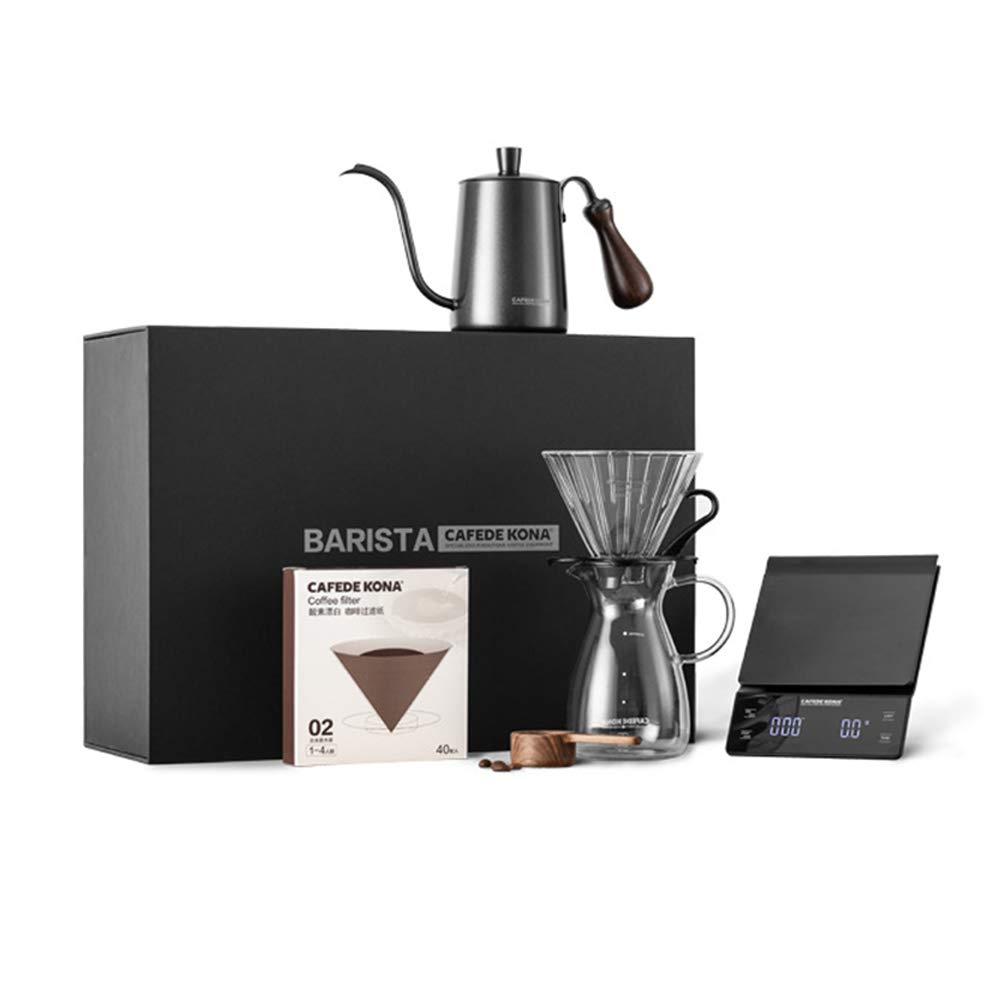 Verter sobre cafetera Set, café hervidor filtro taza vidrio ...