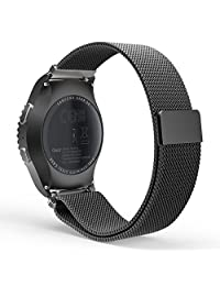 Gear S2 Classic / Gear Sport Watch Band, MoKo Milanese Loop Stainless Steel Mesh Strap for Samsung Gear S2 Classic SM-R732 / Gear Sport SM-R600 (NOT FOR S2 SM-R720, SM-R730), BLACK