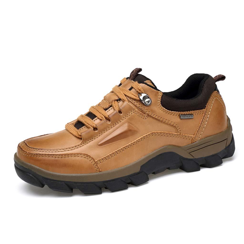 ChengxiO Herren Winter Leder Stiefel Tooling Neue Herrenschuhe Plus Samt warme Baumwolle Schuhe Outdoor Wandern Casual Martin Stiefel Männer Casual Schuhe Outdoor Schuhe (Farbe   Gelb, größe   40)