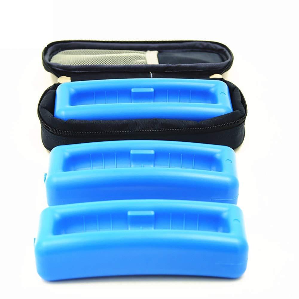 CMCC Raffreddatore Per Insulina - Custodia Da Viaggio Isolata - Mantiene I Farmaci Per Diabetici Freschi E Isolati - Congelamento (Standard Nero)