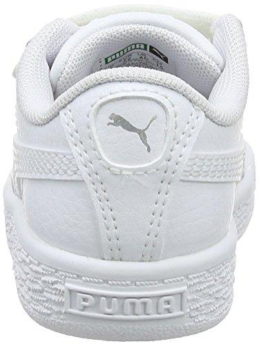 Puma Unisex-Kinder Basket Classic LFS V Inf Sneaker Weiß (Puma White-Puma White)
