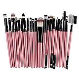 Han Shi Brushes, Fashion 22Pcs Makeup Brush Tools Lip Powder Eye Shadow Toiletry Kit (M, Pink)