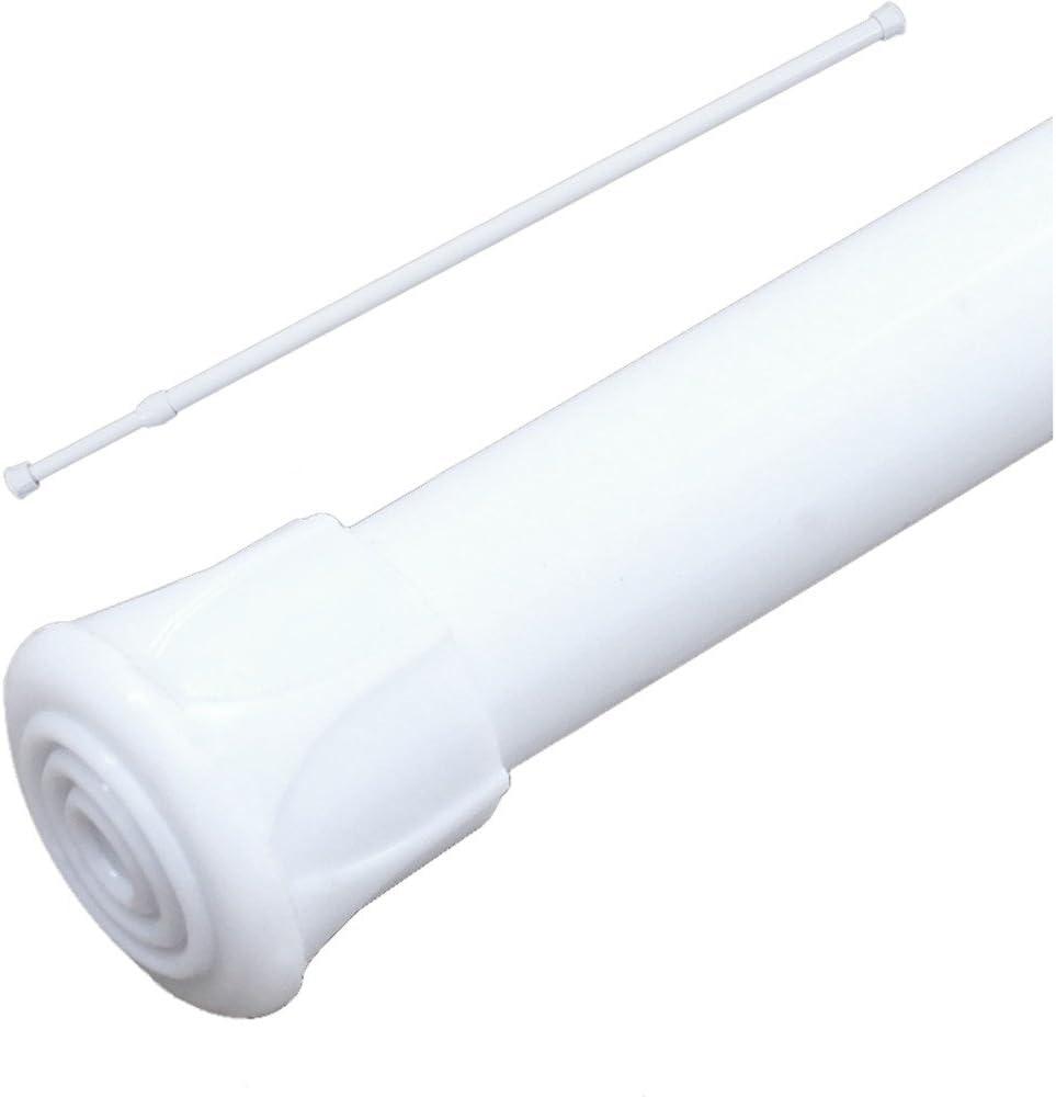 Mumustar Window Curtain Rod Tension Pole Net Voile Windows Shower Aluminium Extendable Curtains Treatment Telescopic Rod Set 55cm-90cm/22-35.5inch (C)