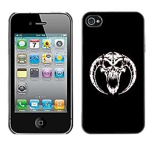 TECHCASE**Cubierta de la caja de protección la piel dura para el ** Apple iPhone 4 / 4S ** Horned Devil Skull
