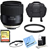 Tamron SP 85mm f1.8 Di VC USD Lens for Sony E-Mount Full-Frame Cameras w/Bundle Includes, UV Protective Filter, Camera Bag, Lens Cap Keeper, Lens Cleaning Kit, Micro Fiber Cloth & 32GB Memory Card.