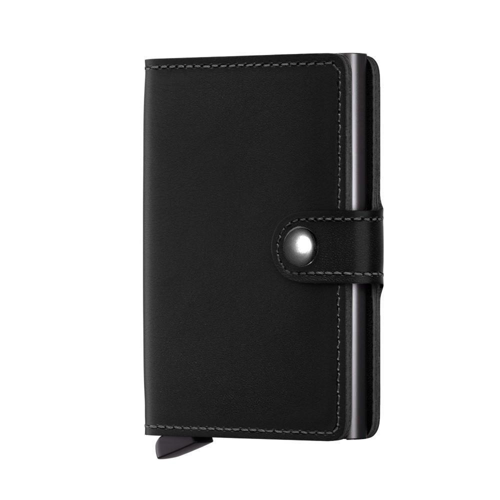 ABILITH Mini Portafoglio uomo con Portamonete, vera pelle Porta Carte di Credito dal design minimalista, Mini Wallet, Porta tessere slim tascabile (Cachi)