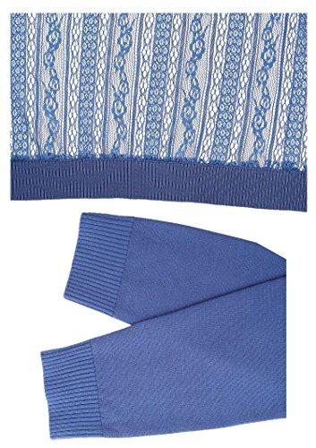 Abollria Women's Girls Lace Hollow Shoulder Cardigan Light blue