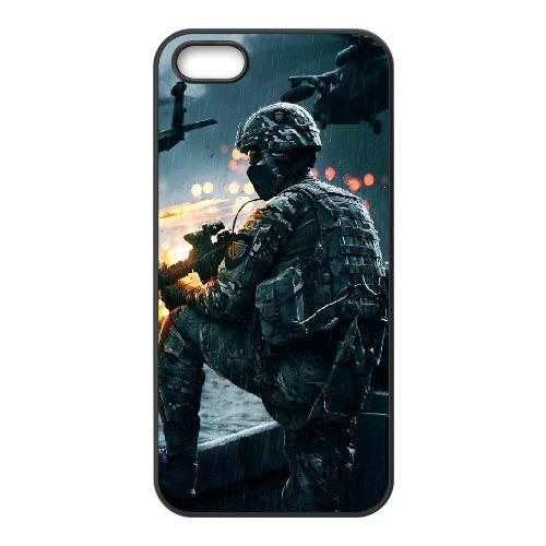 Battlefield Mobile Game Wallpaper X 33 iPhone 4 copertura 4S di caso della copertura nera del telefono cellulare caso EBDOBCKCO08850