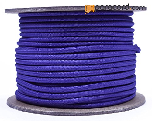 Purple 1/8'' Shock Cord - BORED PARACORD Marine Grade Shock / Bungee / Stretch Cord 1/8 inch x 100 feet Several Colors - Made in USA by BoredParacord