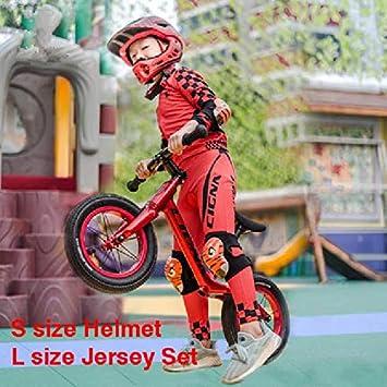 DGHHUFAHF Casco Casco de Ciclismo Completo para niños de 2 a 10 ...