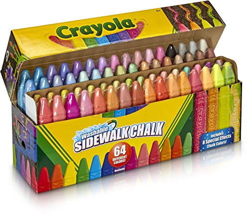 - Crayola Sidewalk Chalk, Washable, Outdoor, Gifts for Kids, 64 Count