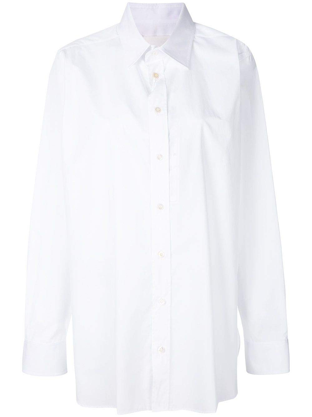 Brand Size 42 MAISON MARGIELA Women's S29DL0120S44720100 White Cotton Shirt