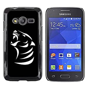LECELL -- Funda protectora / Cubierta / Piel For Samsung Galaxy Ace 4 G313 SM-G313F -- B & W Cougar Mountain Lion --