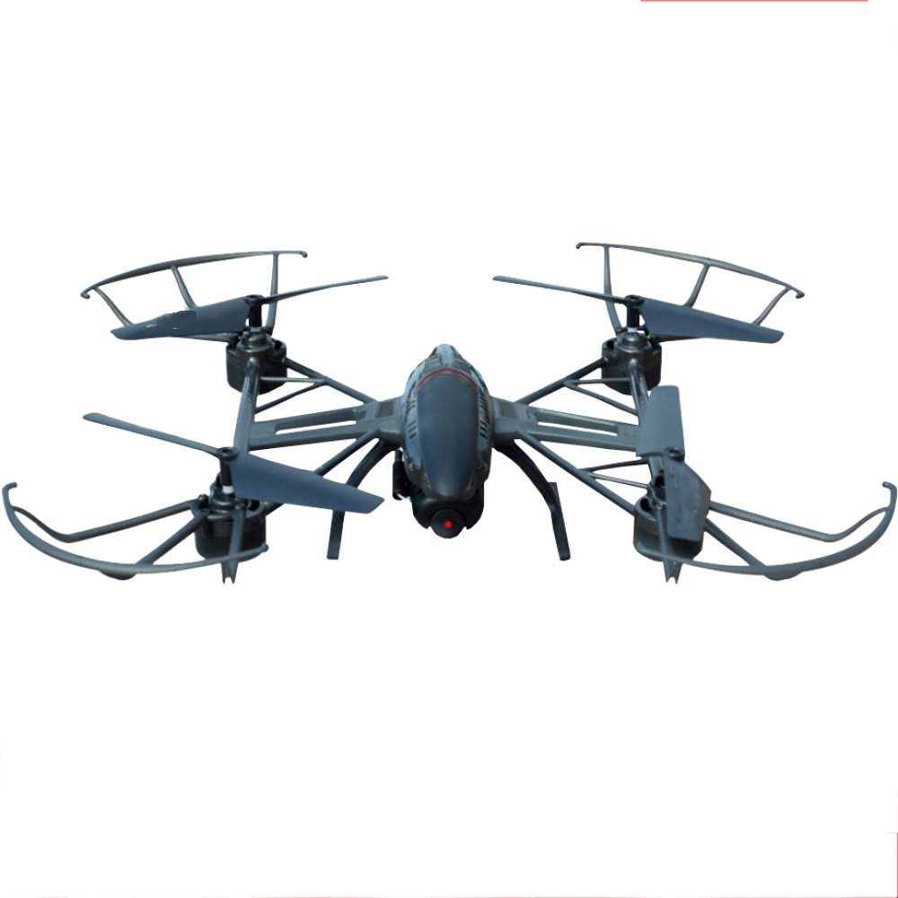Barato RC Drone Con 2MP Cámara HD WIFI Live Video 2.4Ghz 4 Ejes Gyro Quadcopter Con Altitude Hold Modo Sin Cabeza Y 3D Flips One-Button Despegue Y Aterrizaje,2Batteries