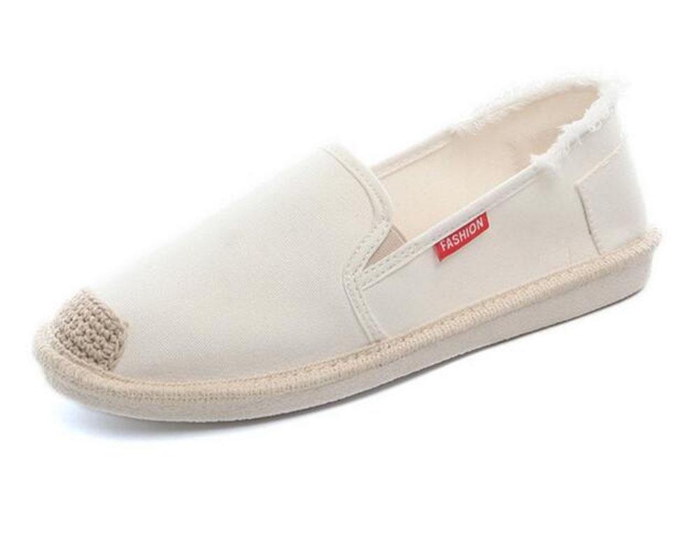 KUKI Weibliche flache zufällige Schuhe der Segeltuchschuhe beschuht US6.5-7 Stoffschuhe , 4 , US6.5-7 beschuht / EU37 / UK4.5-5 / CN37 - d69f23