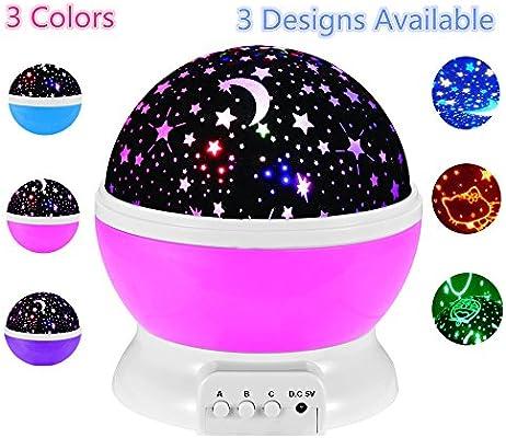 LED de iluminación lámpara 3 diseños romántica giratoria Cosmos ...