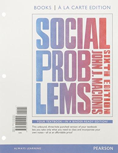 Social Problems Ll Pkg W/ Revel
