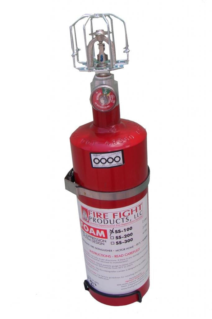 Fire Fight Products - SS100-FOAM Large Format 2 Liter FOAM Automatic release Fire Suppression