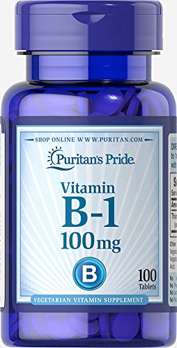 Puritan's Pride Vitamin B-1 100 mg-100 Tablets