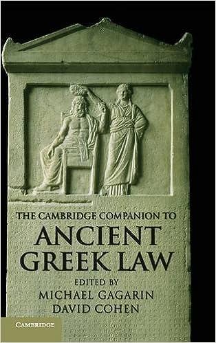 The Cambridge Companion to Ancient Greek Law (Cambridge