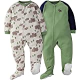 Gerber 2-Pack Toddler Boy Wild Bear Blanket Sleepers