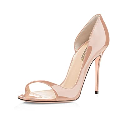 7a4f3015f95c51 Modemoven Escarpins Femmes - Chaussures Stilettos - Sandales Peep Toe - Grande  Taille - Chaussures Femme