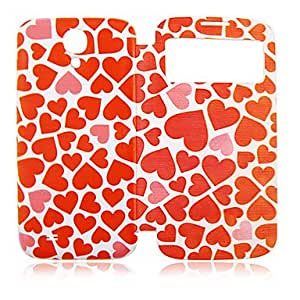 Red Peach Heart Plastic Full Body Case for Samsung Galaxy S4 I9500