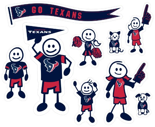 Siskiyou NFL Houston Texans Large Family Decal Set