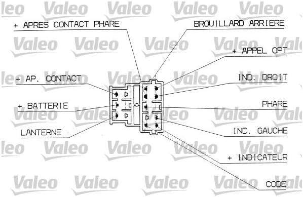 PEUGEOT 406 CITROEN XANTIA INDICATOR LIGHT STEERING COLUMN SWITCH 251305 *VALEO*