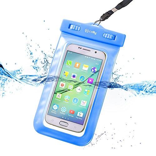 Celly SPLASHUNILB Coque étanche pour Smartphone Bleu
