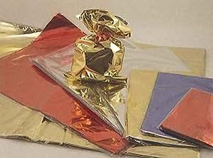 PNP–50bolsas de regalo de polipropileno, color metálico brillante, de 16x 25cm, rojo, sin borde adhesivo