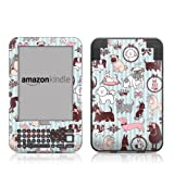Doggy Boudoir Design Protective Decal Skin Sticker for Amazon Kindle Keyboard / Keyboard 3G (3rd Gen) E-Book Reader - High Gloss Coating