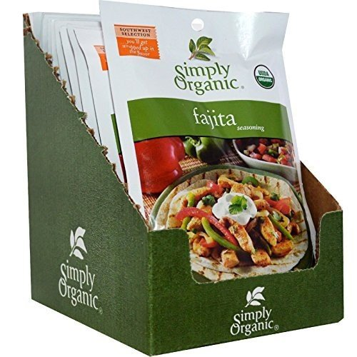 - Simply Organic Fajita, Seasoning Mix, Certified Organic, 1-Ounce Packets (Pack of 12) ( Value Bulk Multi-pack)