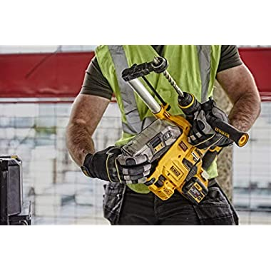DEWALT D25304DH Cordless Onboard Dust Extractor for SDS-Plus Hammers with HEPA Filter-Perform and Protect Shield 10