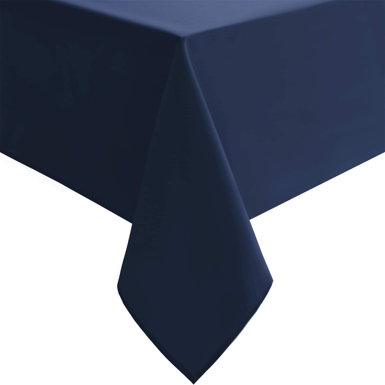 Hiasan Waterproof Tablecloth Rectangle - Washable Fabric Table Cloth for Dining Room Kitchen Birthday Party and Outdoor Use, Navy Blue, 54 x 80 Inch