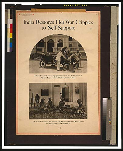 Vintography WWI Reproduced Image of India restores her war cripples to self-Support 1919 0 07a by Vintography