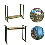 ZDYLM-Y Garden Kneeler Seat Portable Multiuse Folding Garden Kneeling Bench and Seat for Easy Storage