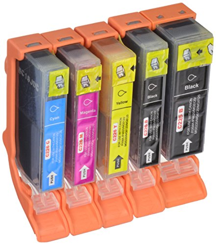 Cyan Compatible Ink (Compatible Ink Cartridge Replacement for Canon PGI225 and CLI226 (1 Large Black 1 Small Black 1 Cyan 1 Magenta 1 Yellow) 5)