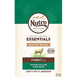 NUTRO WHOLESOME ESSENTIALS Natural Healthy Weight Adult Dry Dog Food Pasture-Fed Lamb & Rice Recipe, 30 lb. Bag 115