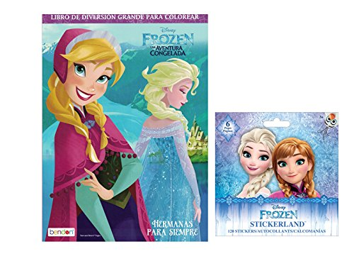 Disney Frozen Spanish Party Favors Set Jumbo Coloring And Activity Book 96