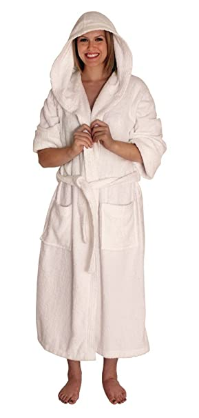 8f670fdd8f NDK New York Women s and Men s Hooded Terry Cloth Bath Robe  Amazon ...