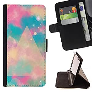Jordan Colourful Shop - Blue Polygon Mystical Space Clouds For Apple Iphone 5C - Leather Case Absorci???¡¯???€????€????????&cen