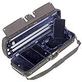 Gewa Atlanta Black Oblong 4/4 Violin Case with Blue Velvet Interior